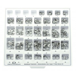 Maxi-Assortment Dentaform® Bands, 1st Molar, Unwelded - 300 Pieces