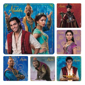 Aladdin Live Action Movie Stickers - 100/roll