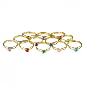 Boxed Birthstone Rings Assorted - 36/bx