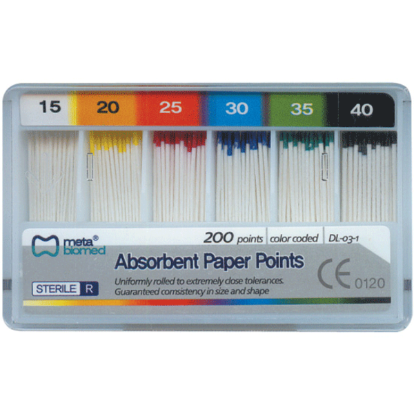 Absorbent Paper Points Cell 200/Pk #25